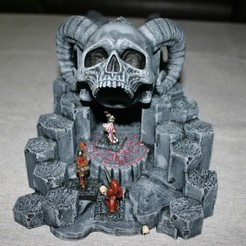Download free STL file Openlock / Openforge Skull Cave Dungeon Entrance • 3D printer model, Alonicus