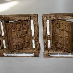 S_Doors_4.JPG Télécharger fichier STL gratuit Porte Tudor pour les murs en S - Openlock / OpenForge • Plan à imprimer en 3D, Alonicus