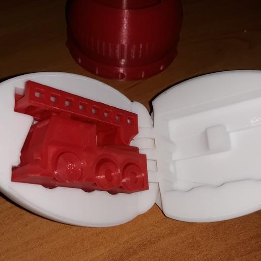 Download free 3D print files Surprise Egg #5 - Tiny Fire Truck, agepbiz