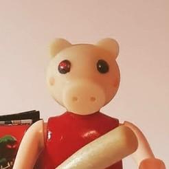 piggy (1).jpg Download free STL file Playmobil Piggy Roblox • 3D printable model, PlaymoCustomfig