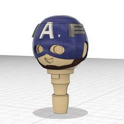 Ca3.jpg Télécharger fichier STL Captain America compatible playmobil + ses boucliers • Plan pour imprimante 3D, PlaymoCustomfig