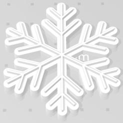 copo de nieve 1.png Download STL file Cookie Cutter Frozen Snowflake • 3D print object, dastrusi