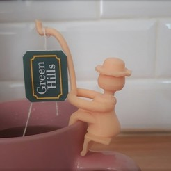 porta saquito.jpeg Download STL file Tea Bag Fisherman • 3D printing object, dastrusi