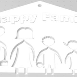 Download STL files Family key holder, dastrusi