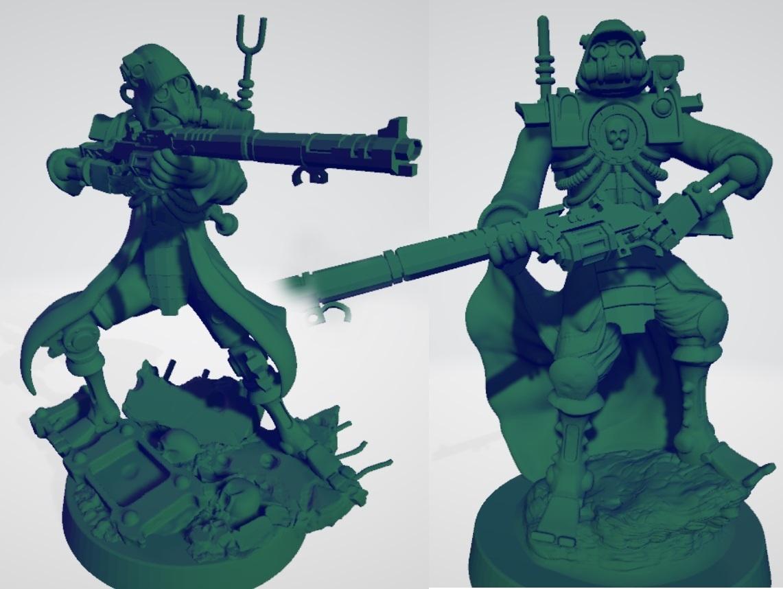 Ranger_thumbnail.jpg Télécharger fichier STL gratuit Rangers mécanisés martiens • Plan à imprimer en 3D, ErikTheHeretek