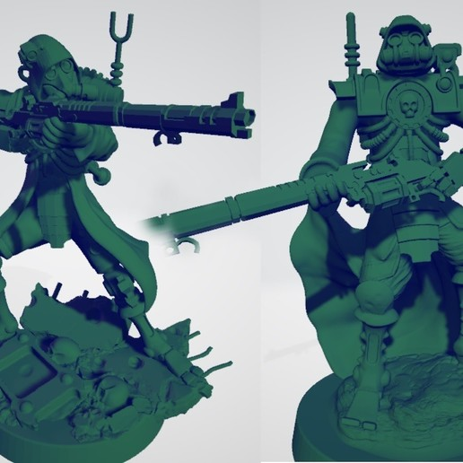 Ranger_thumbnail.jpg Download free STL file Martian Mechanized Rangers • 3D printable object, ErikTheHeretek