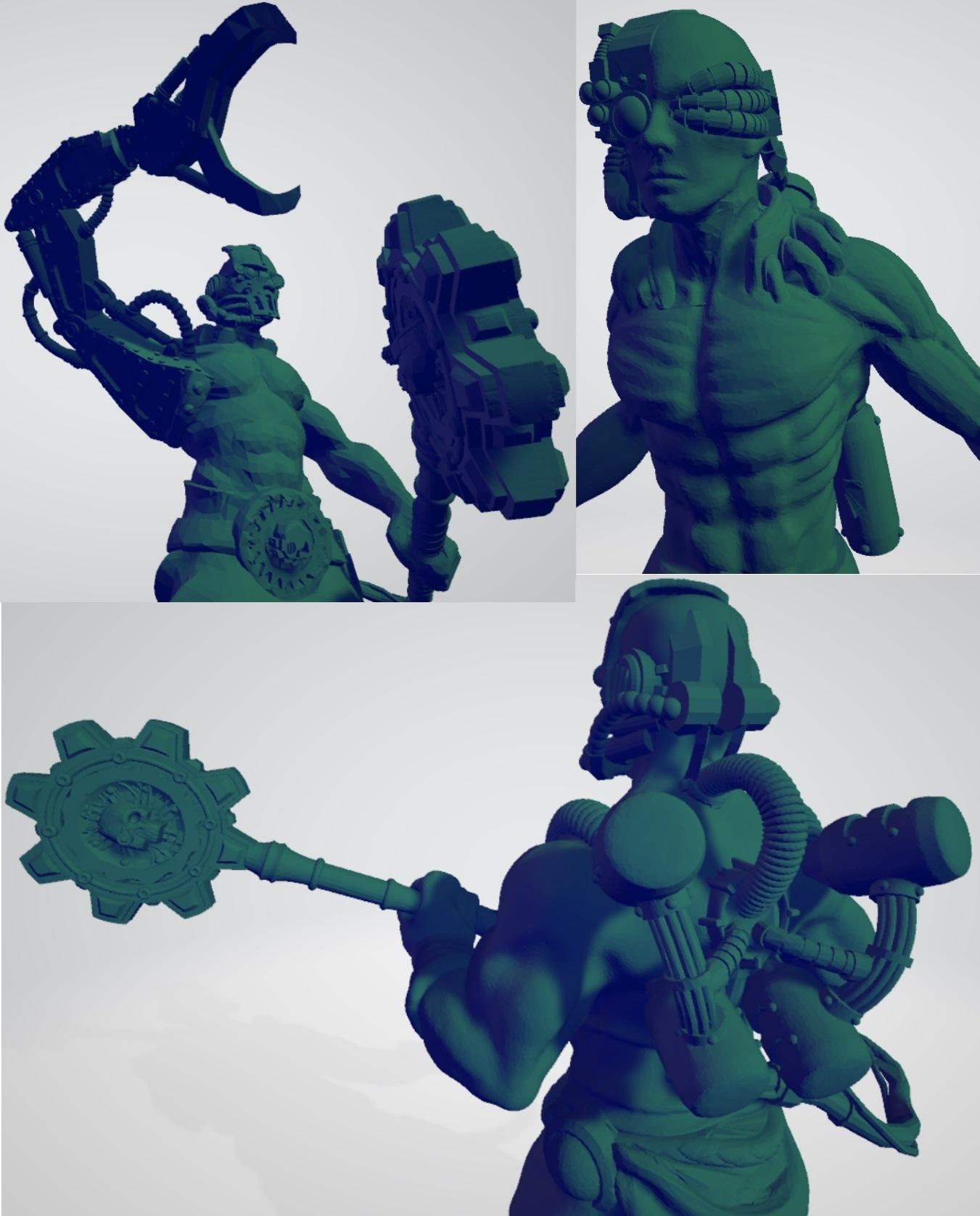 Charged_Cogboys.jpg Download free STL file Martian Electric Clergy • 3D print design, ErikTheHeretek