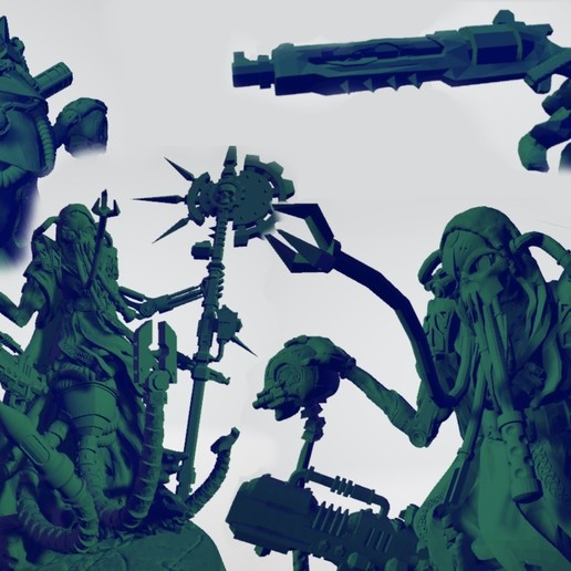 Exospectre_new.jpg Download free STL file Martian Machine Prophet • 3D printer template, ErikTheHeretek