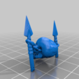 Aztec_Armiger_Xeno_skull_trophy.png Download free STL file Aztec Armor Bearer  - Conversion Kit • Model to 3D print, ErikTheHeretek