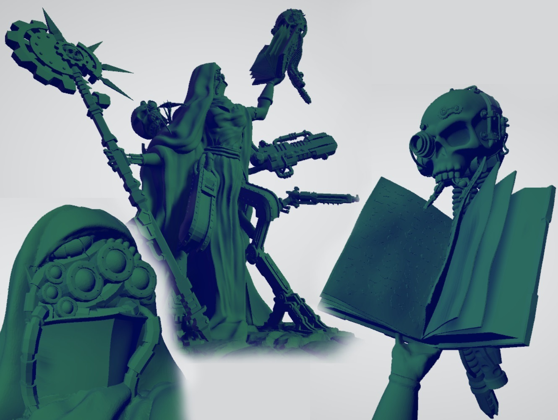 femalemagos.jpg Download free STL file Martian Magos with Mammaries • 3D printable model, ErikTheHeretek