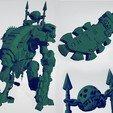 Aztec_Armiger_2.jpg Download free STL file Aztec Armor Bearer  - Conversion Kit • Model to 3D print, ErikTheHeretek