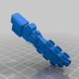 Aztec_Armiger_Macuahuitl.png Download free STL file Aztec Armor Bearer  - Conversion Kit • Model to 3D print, ErikTheHeretek