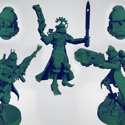 Download free 3D printing designs Martian Irradiated Troopers, ErikTheHeretek