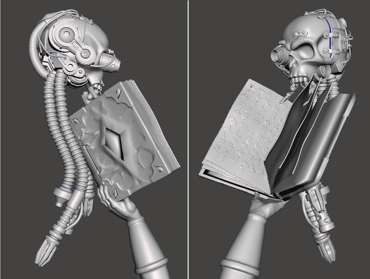 Grimdark_reading.jpg Download free STL file Martian Magos with Mammaries • 3D printable model, ErikTheHeretek