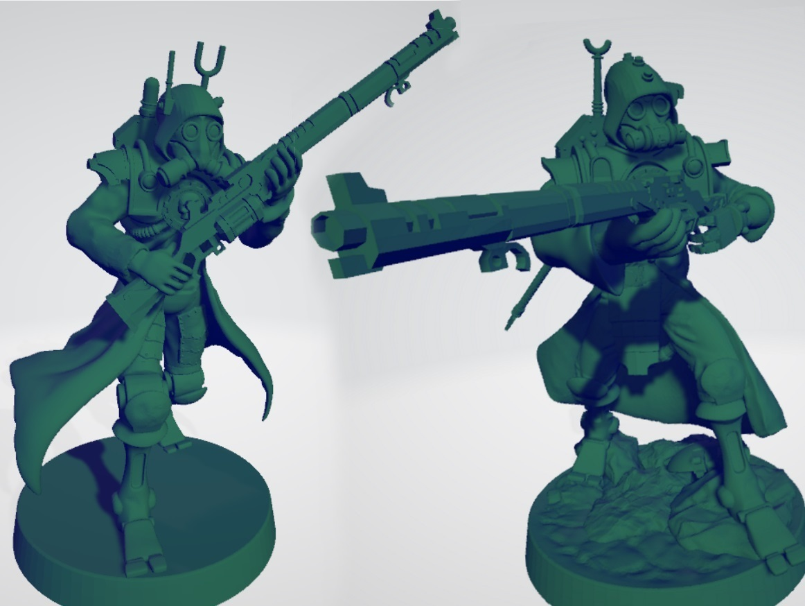 Ranger_thumbnail_2.jpg Download free STL file Martian Mechanized Rangers • 3D printable object, ErikTheHeretek