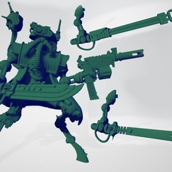 Infiltrator_Princeps.jpg Download free STL file Martian Leader of Stealthy Intruders • 3D printing template, ErikTheHeretek