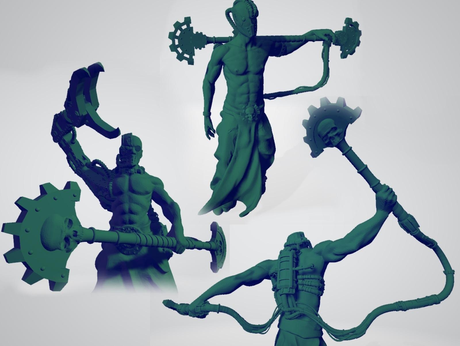 Fulgurites.jpg Download free STL file Martian Electric Clergy • 3D print design, ErikTheHeretek