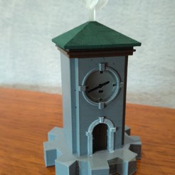 Download free 3D printing templates MYST Clock Tower Lamp, Blackwyche