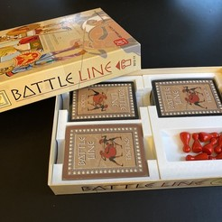 Download free 3D printing templates Insert/Organizer for Battle Line (fits sleeved cards), fuchsr