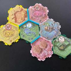 Download free 3D printing designs Tile Holders and Irrigation Channels for Takenoko, fuchsr