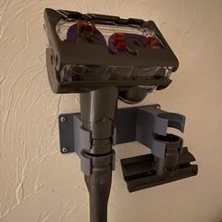 Imprimir en 3D gratis Dyson Vacuum v6 Multi Tool Wall Mount, fuchsr
