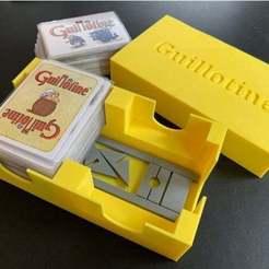Imprimir en 3D gratis Insertar/Organizador y Guillotina para el juego de mesa Guillotina, fuchsr