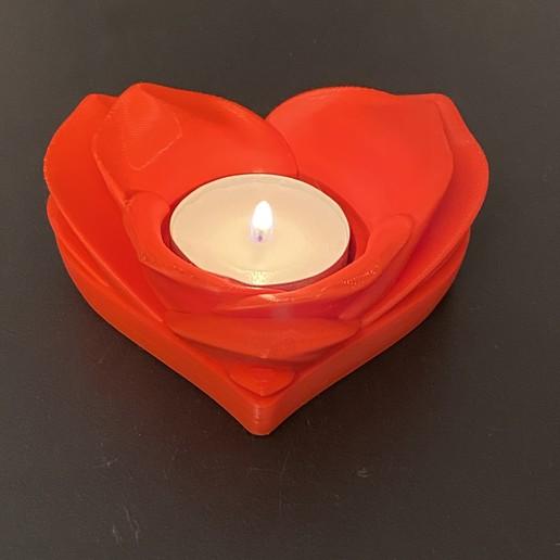 Download free 3D printer designs Romantic Tealight Holder, fuchsr