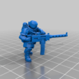 Download free STL file Edgy guy with heavy gun 2, LoggyK