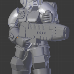Descargar archivos STL gratis Kasrkin con pistola de plasma, LoggyK
