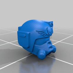 Download free STL file Kasrkin Helmet x2 • Model to 3D print, LoggyK