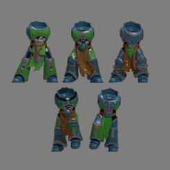 AL Bodies Front.png Download STL file XX Hydra Legion Bodies x5 • 3D print design, LoggyK