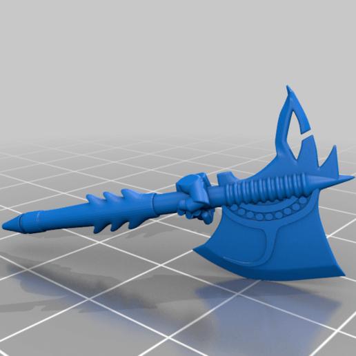 honsou_axe.png Télécharger fichier STL gratuit Le guerrier métis • Objet à imprimer en 3D, LoggyK