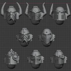 Download free 3D printing files 4th Legion Helmets, LoggyK