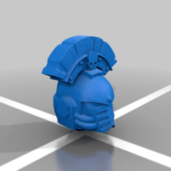 Download free 3D printer model [OUTDATED] Mark 4 Captain Helmet Crested, LoggyK