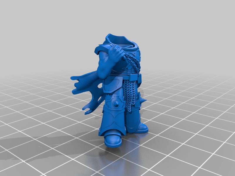 honsou_body_cloak.png Télécharger fichier STL gratuit Le guerrier métis • Objet à imprimer en 3D, LoggyK