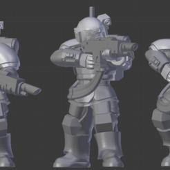 Descargar diseños 3D gratis Kasrkin hellgun Squad x3, LoggyK