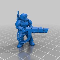 Descargar modelos 3D gratis Kasrkin con la pistola de voleibol Hotshot, LoggyK
