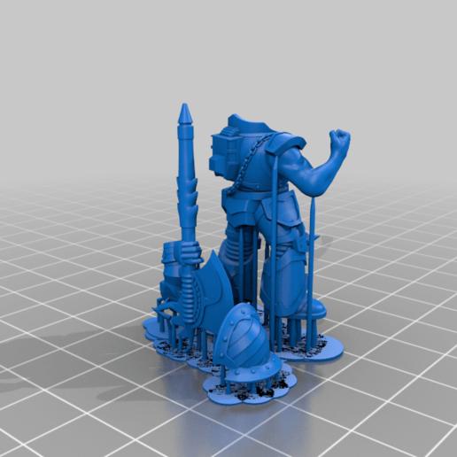 honsou_presupported.png Télécharger fichier STL gratuit Le guerrier métis • Objet à imprimer en 3D, LoggyK