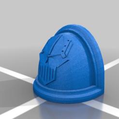 Download free 3D printing files Iron Warriors Shoulder Pad, LoggyK