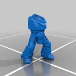 Download free 3D printing templates Space Marine Power Armour Mark 2 Body, LoggyK