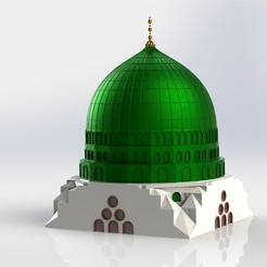 Download 3D printing templates The Green Dome of Prophet Muhammad Mosque, cadworkss