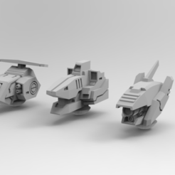 Download free 3D print files Robo Fish-boy Alternate Heads, IonRaptor
