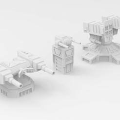 turrets1.png Télécharger fichier STL gratuit Tourelles MW4 • Design à imprimer en 3D, IonRaptor