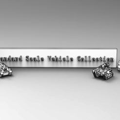 1.PNG Download free STL file Standard Scale Vehicle Collection • 3D printer model, IonRaptor