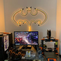 BatNeon1.jpg Download STL file Batman Neon LED Light Lamp • Template to 3D print, Khastagne