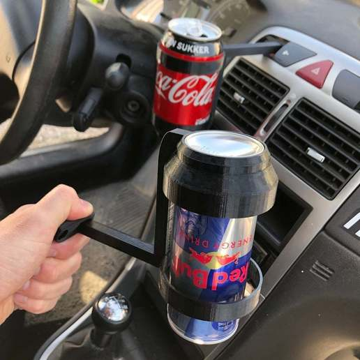 cb30308774f1c1dc65e750ecd59673f2_display_large.JPG Download free STL file Peugeot 307 Can and bottle holder • 3D printing template, stibo