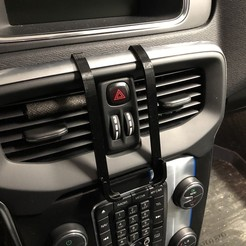 Download free 3D printer designs iPhone 6-7-8 dash mount for Volvo V40 (2012-), stibo