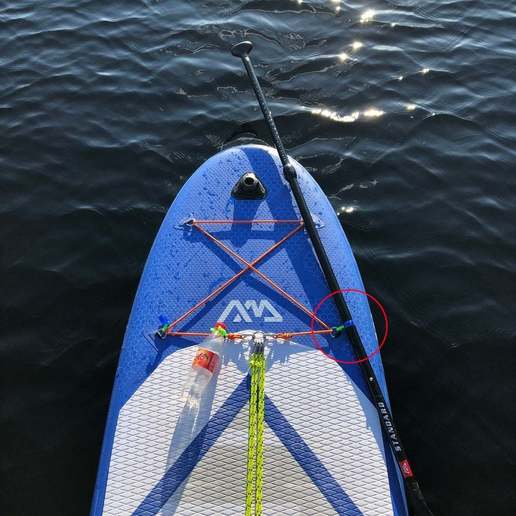 Download free 3D printing templates SUP Paddle holder, stibo