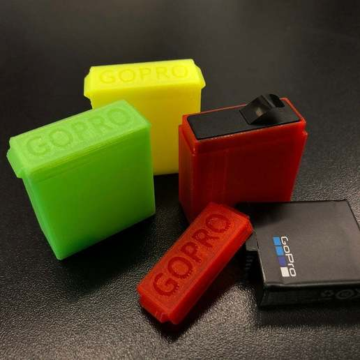 Download free 3D printer designs GoPro Battery Case (Hero 5,6 & 7), stibo