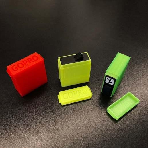 61dae8238722c9d48870e75295aae2f3_display_large.jpg Download free STL file GoPro Battery Case (Hero 5,6 & 7) • 3D printable template, stibo